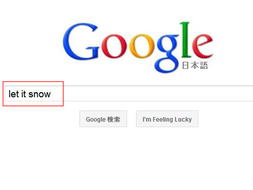 googleに雪