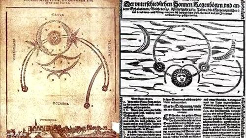 1561年の上空で謎の飛行物体が戦った記録10