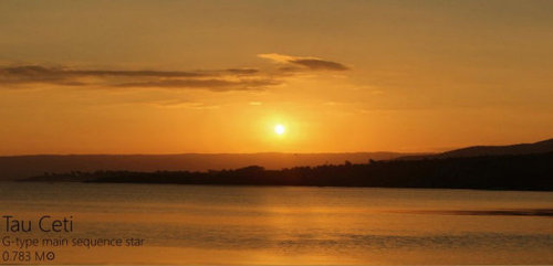 夕日を太陽以外の恒星にしたら04