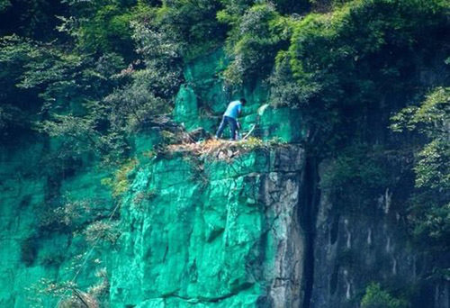 中国人「風水的に白い崖はよくない」02