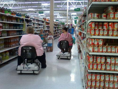 アメリカのスーパーの電動カート07