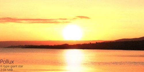 夕日を太陽以外の恒星にしたら09