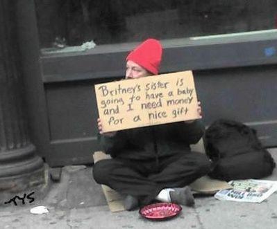 面白いホームレスの看板12