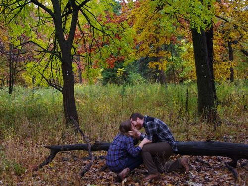 森の中で自動撮影にしてプロポーズ06