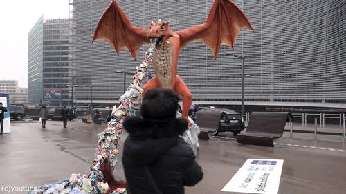 ブリュッセルにドラゴン像02