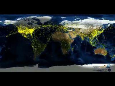 一目でわかる、世界の飛行機の交通量