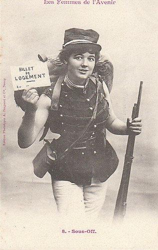 100年前に想像した未来の女性像08