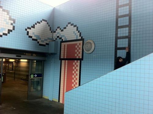 ストックホルムの駅が8bitゲーム風10