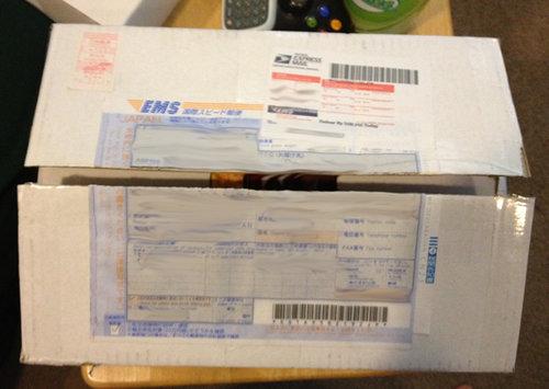 日本から届いた荷物01