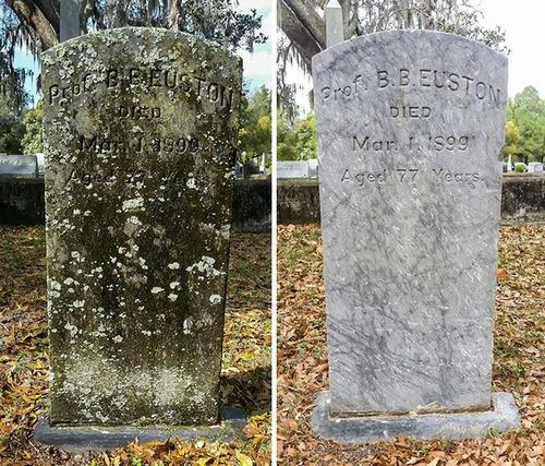 退役軍人の墓を磨く男性03