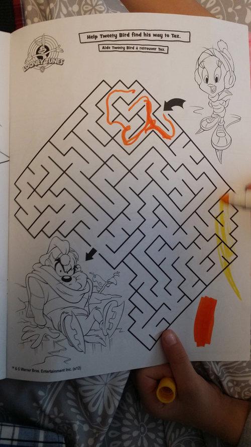 5歳の娘の迷路01