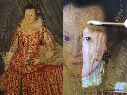 400年前の絵画の汚れを取り除いた結果00