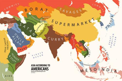 アメリカ人にはこう見える世界地図01