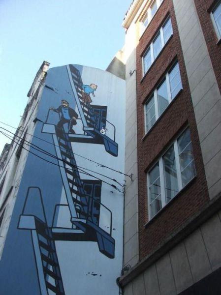 ベルギー・ブリュッセルに描かれたコミックス・グラフィティ24