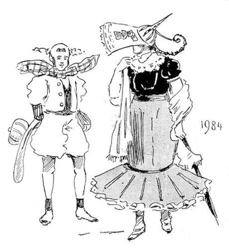 19世紀に想像した20世紀のファッション21
