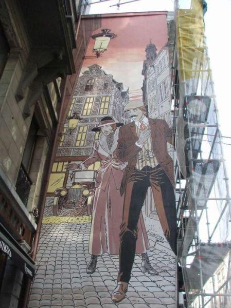 ベルギー・ブリュッセルに描かれたコミックス・グラフィティ30