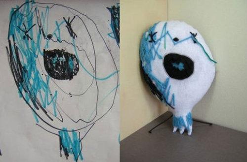 子供の絵を「ぬいぐるみ」にしたら14
