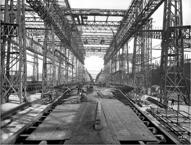 建造風景はこんなだった…100年前に沈没した豪華客船タイタニック号の写真15枚