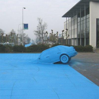 真っ青に染めてしまったロッテルダムの建物13