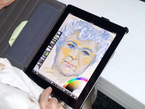 おばあちゃんがiPadを初めて使った02