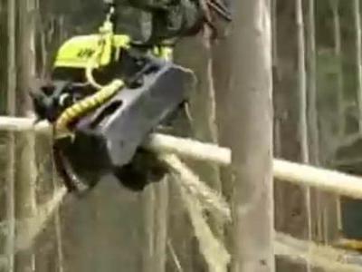 伐採マシーン