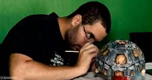 3Dプリンターで亀の甲羅を修復05