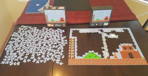 スーパーマリオのジグソーパズルを途中で挫折01