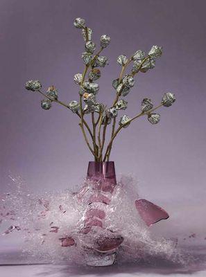 生け花と花瓶─破壊の美学15