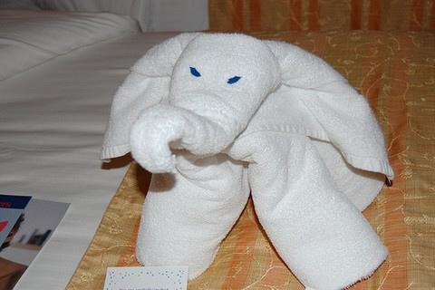 ホテルのタオルで折り紙01