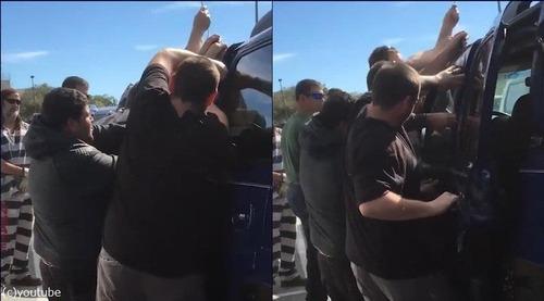 受刑者が車上荒らしの技術を使って女児を救出03
