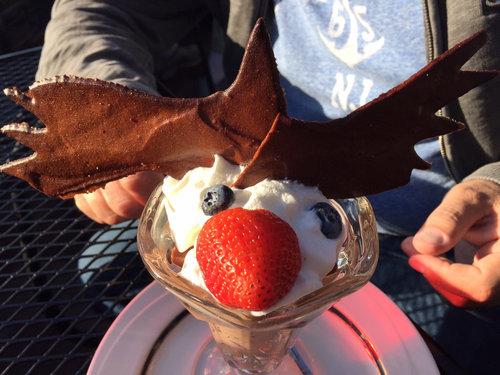 アラスカでチョコレートムースを注文01