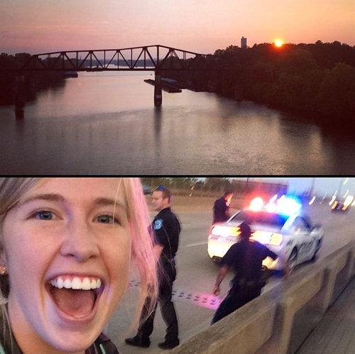 夕陽を撮ってたら自殺と思われて警察を呼ばれた01
