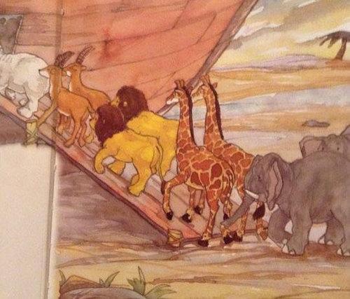 ライオンとノアの方舟01