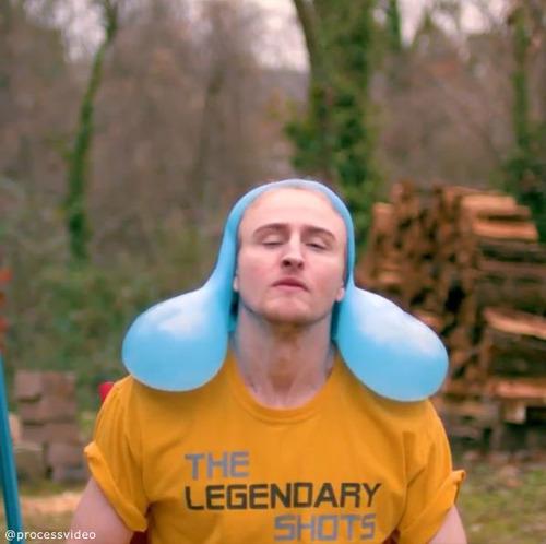 水風船が帽子みたいに08