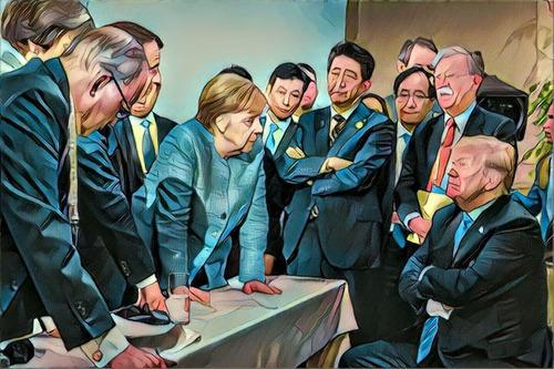 G7での張り詰めた空気04