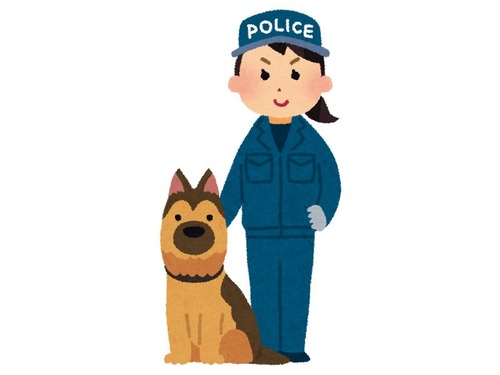 安楽死の前に敬礼される警察犬00