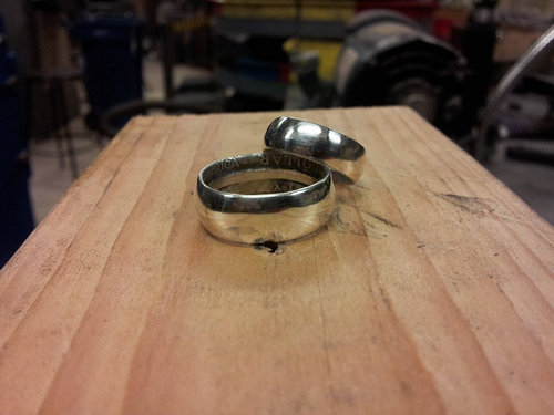 コインから作ったリング25