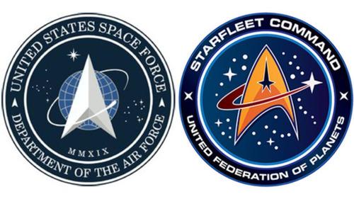 宇宙軍のロゴが「スタートレック」に酷似01