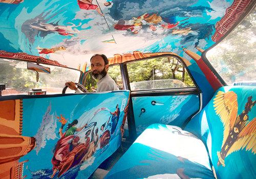 インドのタクシー05