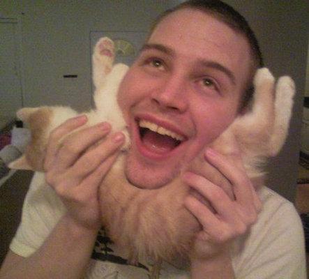 猫でヒゲ遊び18