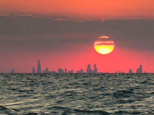 インディアナ州から見たシカゴ02