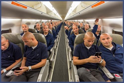 飛行機の全座席に座る01