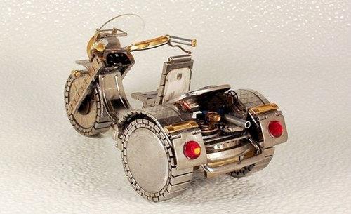 時計で作ったバイク06