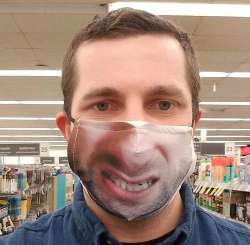 口元の印刷をしたマスク09