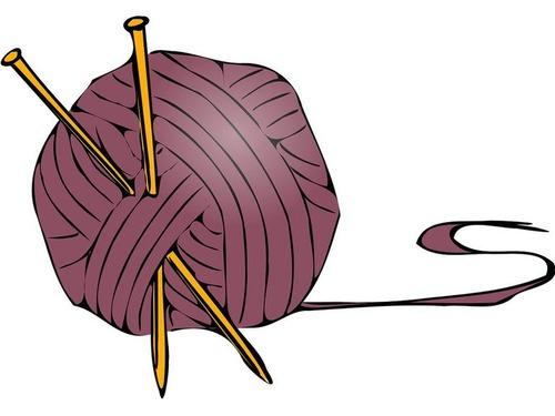編んだ帽子を寄付