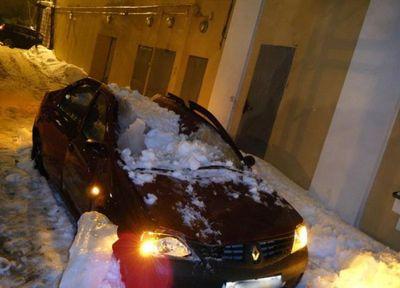 大失敗している雪かき08