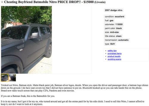 浮気した彼氏の車を勝手に売る01