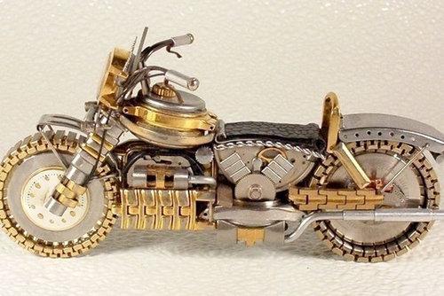 時計で作ったバイク13