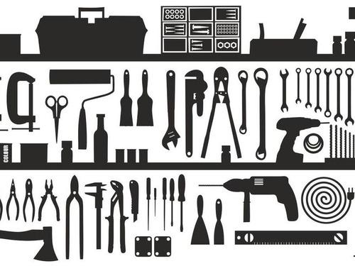 工具と子猫