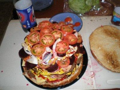 巨大ハンバーガー11